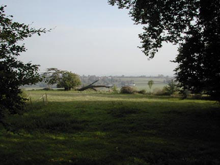 View over the valley from where the old house stood
