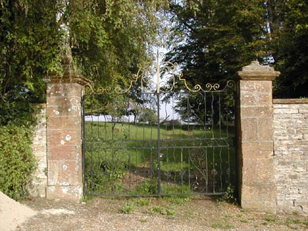 Entrance gate to the Manor House